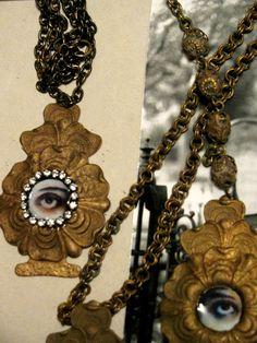 Vintage Stamping Lover's Eye Theda Bara Memento by ADoseOfAlchemy