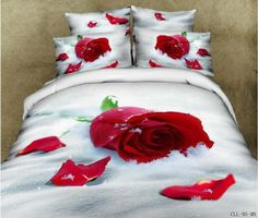 83f8e62ee3c9b Romantic Roses 3d effect 4pcs bedding set 100% cotton reactive printed Queen  wedding duvet cover · Bed SheetsBed ...
