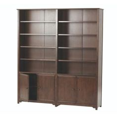 Home Decorators Collection Oxford 5-Shelf Double Open Bookcase in Chestnut-5789520970 - The Home Depot