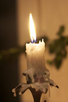 Candlelight. Dripping wax.