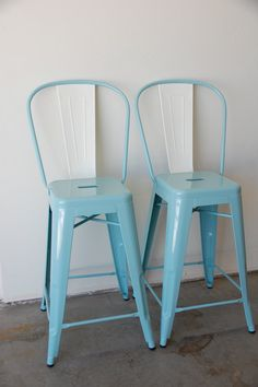 Custom Tolix Style Arm Chair Counter Stool in 25 by sugarSCOUT, $320.00