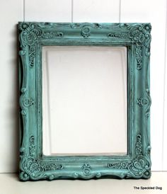 Love the glazing technique on the frame. Currently obsessed with this color- thinking it will be incorporated into the new house