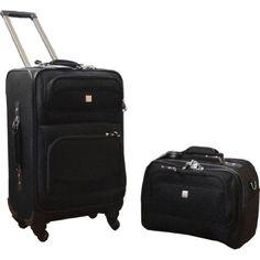 Amazon.com: American Flyer Quattro 2 Piece Luggage Set - Black: Clothing