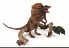 Hansa's plush life-like Frill Necked Lizard