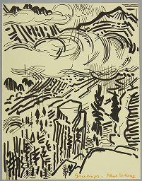 Karl Schrag, Christmas Card, Harvard Art Museums/Fogg Museum
