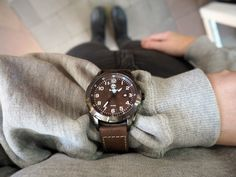 Brązowy stylowy zegarek Timberland