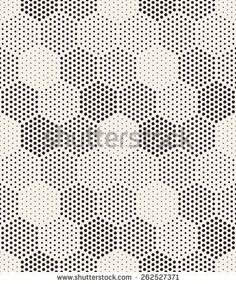 PILLARS WRAPPED IN VINYL. WHICH FLOOR?  Vector seamless pattern. Modern stylish texture. Repeating geometric tiles with filled with dots hexagons. Regular hipster background. Small circles form hexagonal minimalistic ornament. - stock vector: