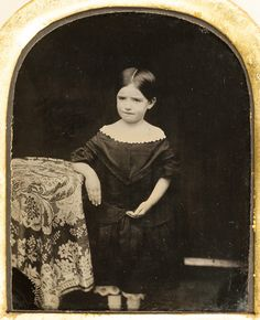 Lovely framed 1/6th plate ambrotype of a small girl possibly Cornish - Cropped version to show the best detail in the image. For the full framed item and the details behind it see http://ift.tt/2hiycEP...