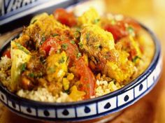 Kiptajine met aubergine en courgette - Powered by Tapas, Rainbow Food, Middle Eastern Recipes, Tasty Dishes, Tandoori Chicken, Love Food, Chicken Recipes, Dinner Recipes, Food And Drink