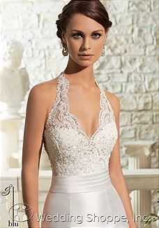 Shop Morilee's Larissa Satin with Crystal Beading on Alencon Lace Morilee Bridal Wedding Dress. Wedding Dresses and Bridal Gowns by Morilee designed by Madeline Gardner. Dreamy lace and Satin perfectly compliment each other on this sheath Bridal Dress. Bridal Wedding Dresses, Wedding Attire, Lace Wedding, Mermaid Wedding, Halter Neck Wedding Dresses, Prom Dresses, Bridal Cape, Evening Dresses, White Bridesmaid Dresses Long
