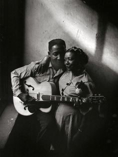 Muddy Waters and his wife Geneva 1951 by Art Shay