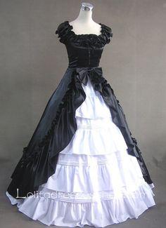 Ruffled Neckline Multi-Layer Fashion Gothic Victorian Lolita Dress