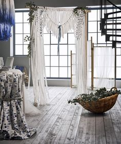 Though we typically bring you home decor-centric IKEA hacks, seeing as we're in the midst of peak wedding season, we thought we'd take this opportunity to share some of the nuptial-appropriate transformations that have captured our attention as of late. Ikea Wedding, Wedding White, Wedding Reception, Ikea Interior, Ikea Home, Swedish House, Lace Curtains, Rattan Basket, Upcycle