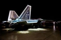 Carrier-Based F-22 Raptor In The Rain