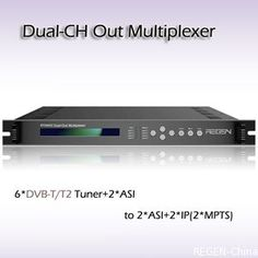 RTS4002 Dual-Channel Out Multiplexer/ 6-Channel professional receiver DVB-S2 tuner input