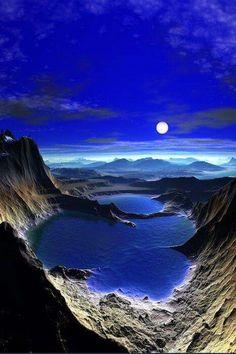 Blue skay moon