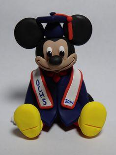Custom Mickey Mouse Graduation Cake Topper and Keepsake by ClayCreationsbyLaura on Etsy https://www.etsy.com/listing/180584619/custom-mickey-mouse-graduation-cake