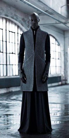 """star-wars-fashion: """"Outfit for Senator Bail Organa Inaisce Fall/Winter 2013 """" Dark Fashion, Fashion Art, High Fashion, Mens Fashion, Fashion Design, Gothic Fashion, Fashion 2014, Fashion Lookbook, Modern Fashion"""
