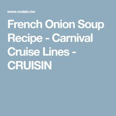 10 Best My Favorite Recipes from Carnival Cruise ship Glory