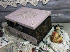 """Купить """"Irene"""" комод-шкатулка - бледно-розовый, пепельно-розовый, венге, комодик, комод для мелочей"""