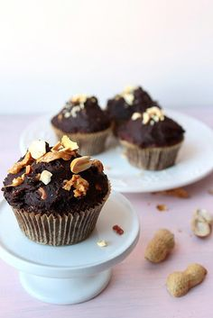 Squash & Peanut Butter Cupcakes Recipe. Rich and moist cupcakes, goodness full of vitamins... LOVE at first bite!! #cupcake #recipe