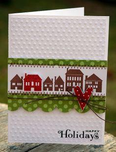 Happy Holidays House Card