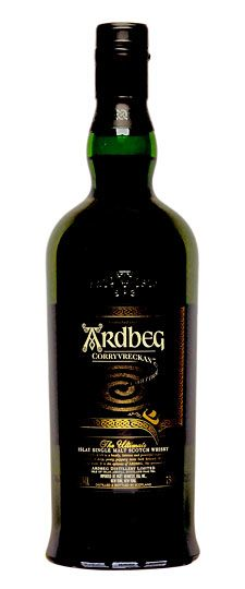 """Ardberg The name is derived from the Scottish Gaelic: Àrd Beag, meaning Little Height. Whiskey Advocate has this to say about Ardberg's Corryvreckan Single malt: """"Powerful, muscular, well-textured, and invigorating. Even within the realm of Ardbeg, this one stands out. The more aggressive notes of coal tar, damp kiln, anise, and smoked seaweed are supported by an array of fruit (black raspberry, black cherry, plum), dark chocolate, espresso, molasses, bacon fat, kalamata olive, and warming…"""