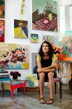 Laura Jones y su estudio