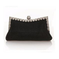 db712916ab96 Popular Pearl Crystal Diamante Evening Clutch Wedding Prom Party Handbag  Purse Bag is designer
