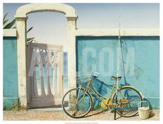 Beach Bike Art Print by D.k. Gifford at http://Art.com