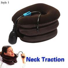 De alta Calidad de Aire Cervical Tracción Del Cuello Suave Brace Dispositivo Cabeza Volver Hombro Dolor de Cuello Cuidado de La Salud