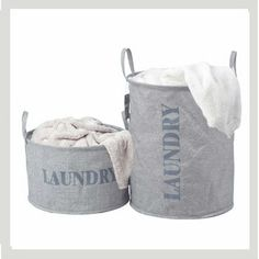 100 Natural Cotton Linen Eco Friendly Laundry Baskets by BeInspire, $34.99