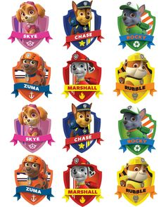 Free Paw Patrol Printables Together With Creative Paw Patrol Party Ideas Pretty My Party A Paw Patrol Free Printable Free Paw Patrol Birthday Party Printables Paw Patrol Cupcakes, Paw Patrol Birthday Cake, Paw Patrol Cupcake Toppers, Paw Patrol Badge, Paw Patrol Party, Paw Patrol Names, Paw Patrol Pinata, Paw Patrol Stickers, Paw Patrol Clipart
