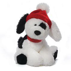 "GUND Spotee Black and White Dog 10"""