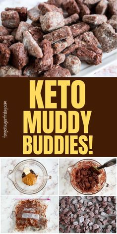 Yes, this is a KETO copycat version of the incredible Puppy Chow (Muddy Buddies) recipe! It tastes just as good (if not better) than the original recipe and contains only net carbs per serving. Ketogenic Recipes, Diet Recipes, Healthy Recipes, Ketogenic Diet, Cheap Clean Eating, Clean Eating Snacks, Keto Fast, Keto Dessert Easy, Dessert Recipes