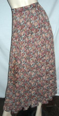 """Neo Nostalgia 100% Rayon Fits 34"""" - 40"""" Waist Broomstick Style Skirt Ships Free"""