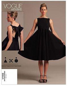 Amazon.com: VOGUE PATTERNS V1102 Misses' Dress, Size AA (6-8-10-12) : Arts, Crafts & Sewing
