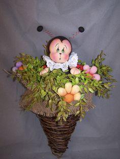 Lady Bug hanging ornament. $35.00, via Etsy.
