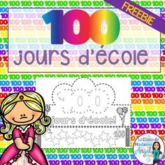 FREE Day of School Crown in French (Le centième jour French Teaching Resources, School Resources, Teaching French Immersion, Counting By 10, 100s Day, French Days, Hundred Days, 1st Grade Math, Grade 1