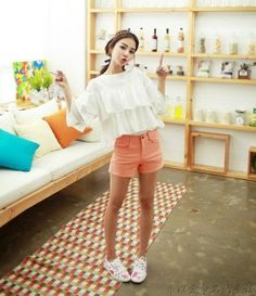 Puffed blouse - 56042