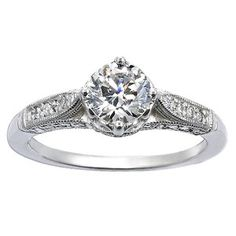 18K White Gold Heirloom Diamond Ring! #perfect