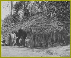 choctaw indians - a typical dwelling place