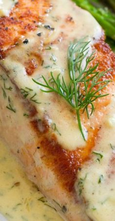 salmon with creamy garlic sauce