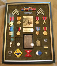 streamlined display of sher's medals