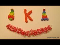 ▶ How to Make Alphabet Letter K on RAinbow Loom - YouTube