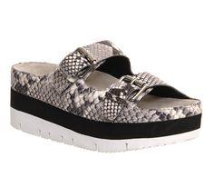 Ash Viola Flatform Sandal Snake Leather - Sandals