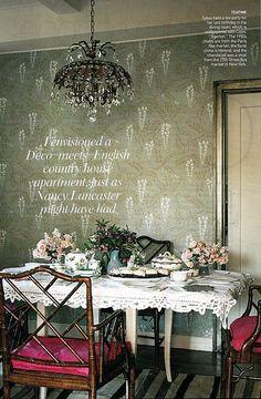 Plum Sykes dining room.  LOVE the wallpaper.