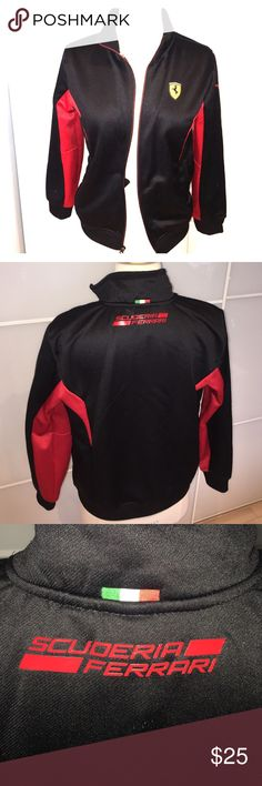 Ferrari boys sweatshirt Boys zip up black and red Ferrari sweatshirt Ferrari Shirts & Tops Sweatshirts & Hoodies