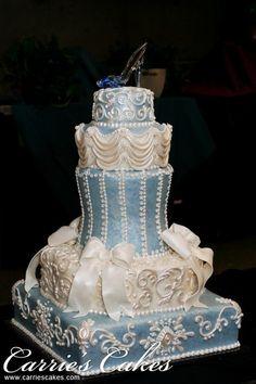 Cinderella wedding cake for a Disney Wedding Fancy Cakes, Cute Cakes, Pretty Cakes, Beautiful Wedding Cakes, Gorgeous Cakes, Amazing Cakes, Unique Cakes, Creative Cakes, Cinderella Wedding