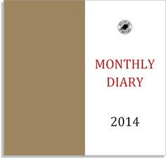 My Life All in One Place: Free monthly diary for the Midori Traveler's Notebook - 2014 version